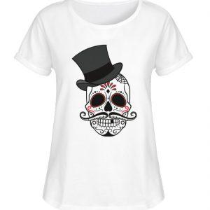SpreeRocker Skull of Dead - Damen RollUp Shirt-3