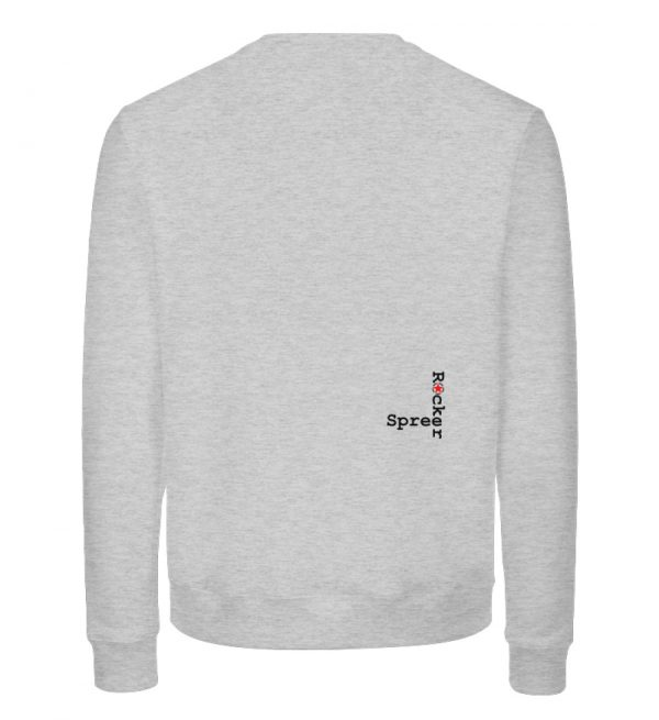 SpreeRocker Black White Skull - Unisex Organic Sweatshirt-6892