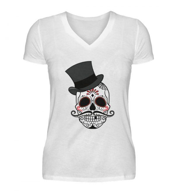 SpreeRocker Skull of Dead - V-Neck Damenshirt-3