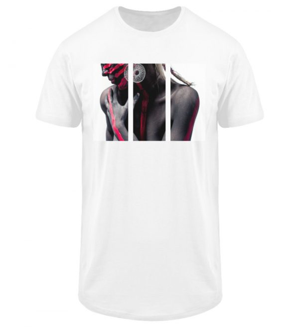 SpreeRocker - Black and Red - Herren Long Tee-3