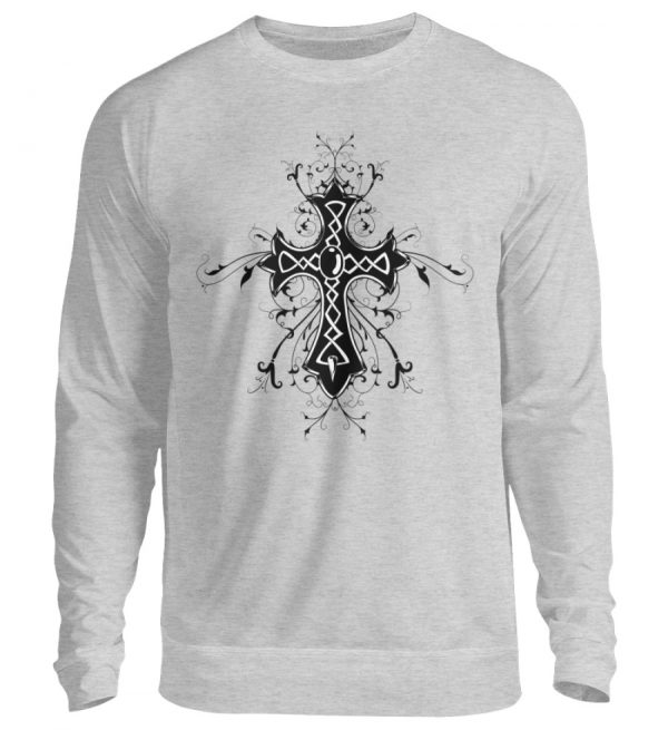 SpreeRocker - Black Cross - Unisex Pullover-17