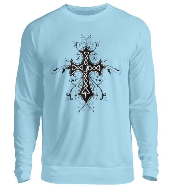 SpreeRocker - Black Cross - Unisex Pullover-674