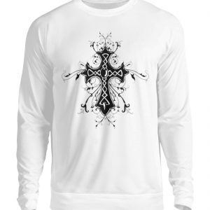SpreeRocker - Black Cross - Unisex Pullover-1478