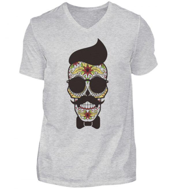 SpreeRocker Sunglasses Skull - Herren V-Neck Shirt-236