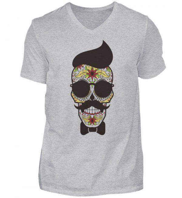 SpreeRocker Sunglasses Skull - Herren V-Neck Shirt-17