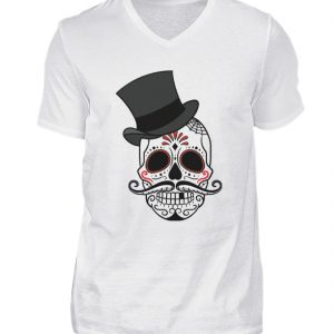 SpreeRocker - Skull of Dead - Herren V-Neck Shirt-3