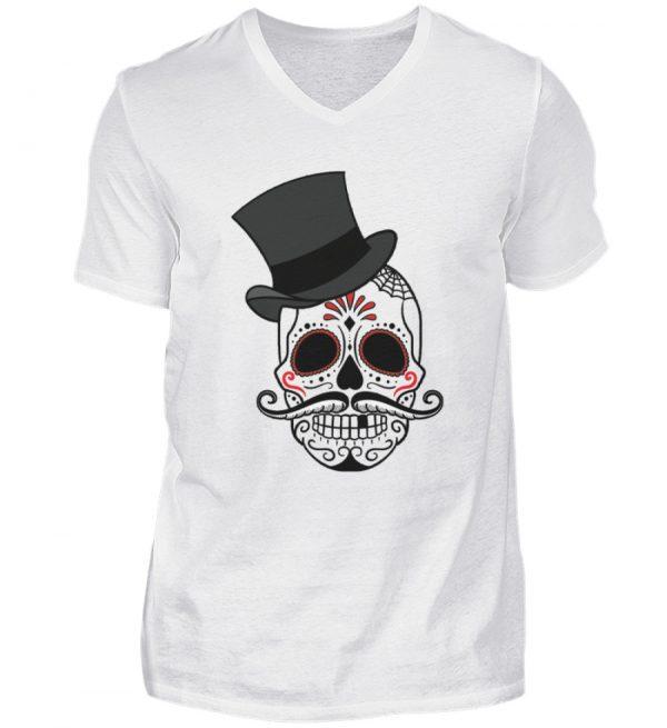 SpreeRocker - Skull of Dead - Herren V-Neck Shirt-3