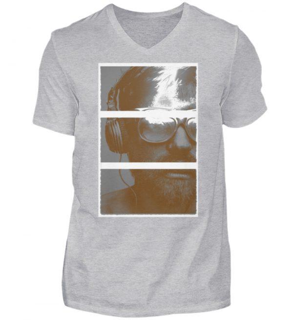 SpreeRocker Music Man - Herren V-Neck Shirt-17
