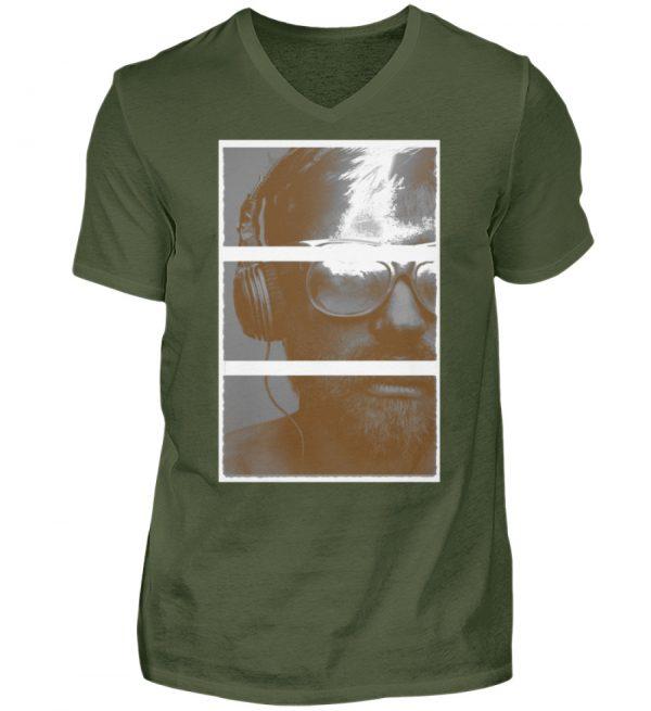 SpreeRocker Music Man - Herren V-Neck Shirt-2587