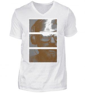 SpreeRocker Music Man - Herren V-Neck Shirt-3