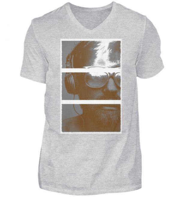 SpreeRocker Music Man - Herren V-Neck Shirt-236