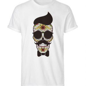 SpreeRocker Sunglasses Skull - Herren RollUp Shirt-3