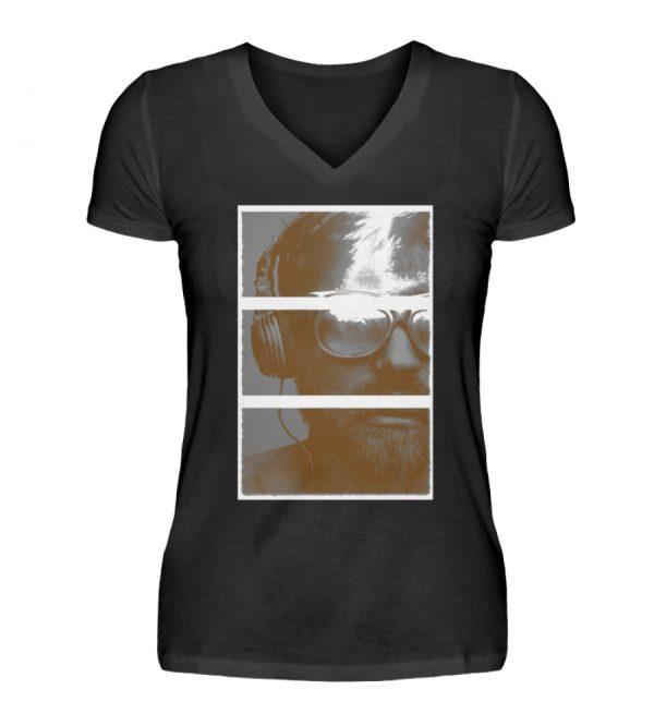 SpreeRocker Music Man - V-Neck Damenshirt-16