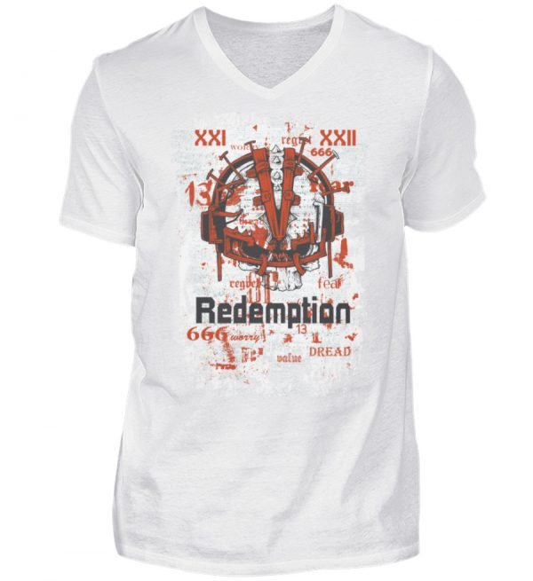 SpreeRocker Redemption - Herren V-Neck Shirt-3