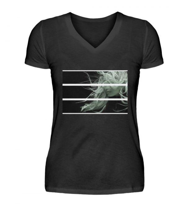 SpreeRocker Blond - V-Neck Damenshirt-16