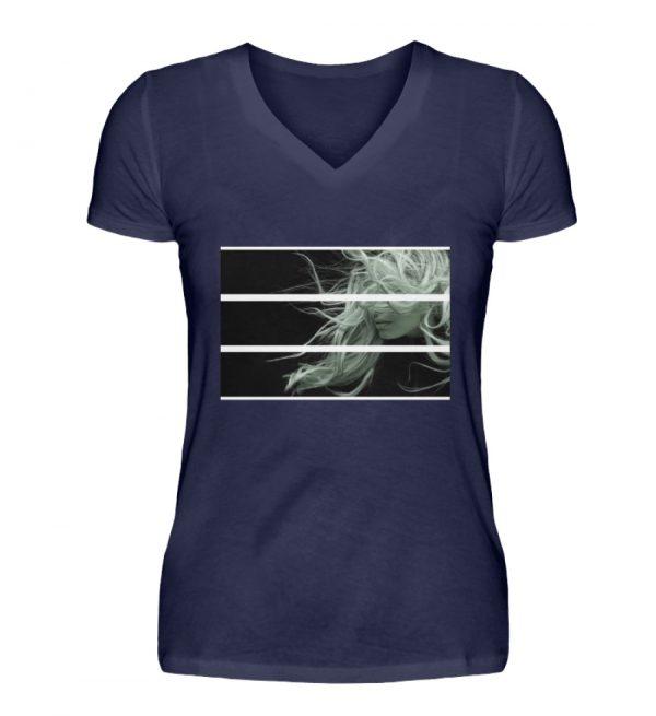 SpreeRocker Blond - V-Neck Damenshirt-198