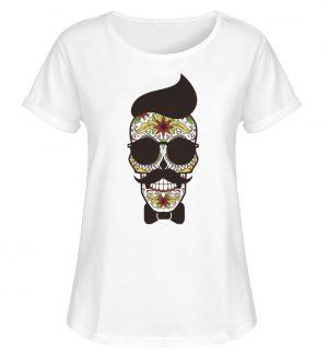 SpreeRocker Sunglasses Skull - Damen RollUp Shirt-3