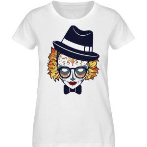 SpreeRocker Lady Skull - Damen Premium Organic Shirt-3