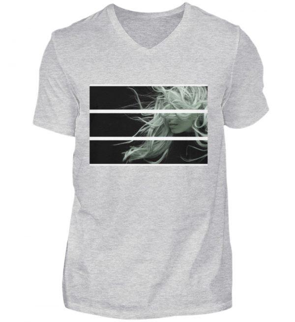 SpreeRocker Blond - Herren V-Neck Shirt-236