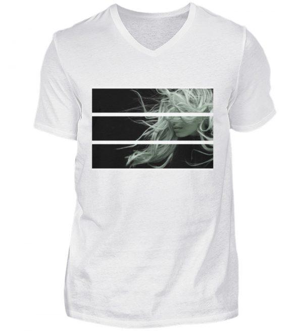 SpreeRocker Blond - Herren V-Neck Shirt-3