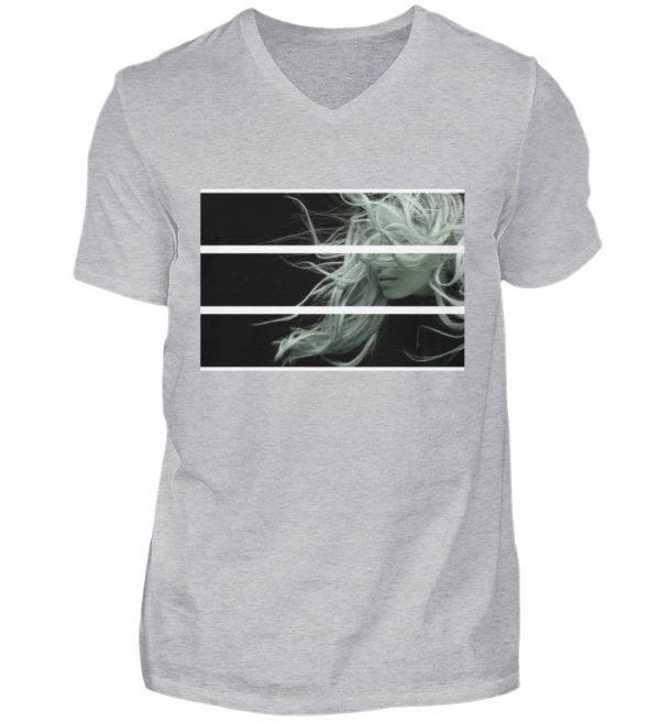 SpreeRocker Blond - Herren V-Neck Shirt-17