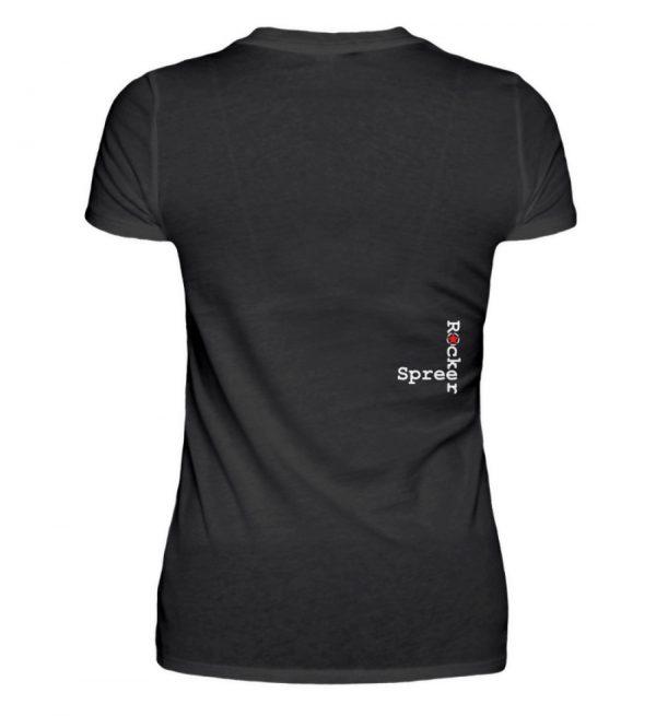 SpreeRocker Kiss - V-Neck Damenshirt-16