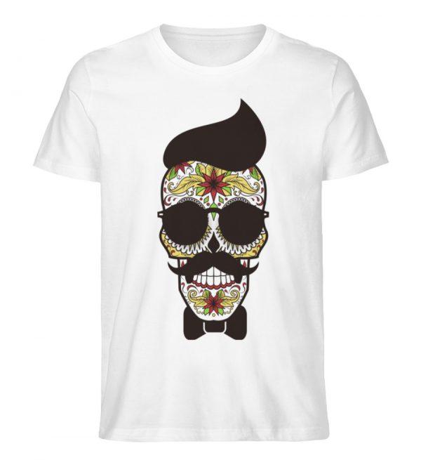 SpreeRocker Sunglasses Skull - Herren Premium Organic Shirt-3