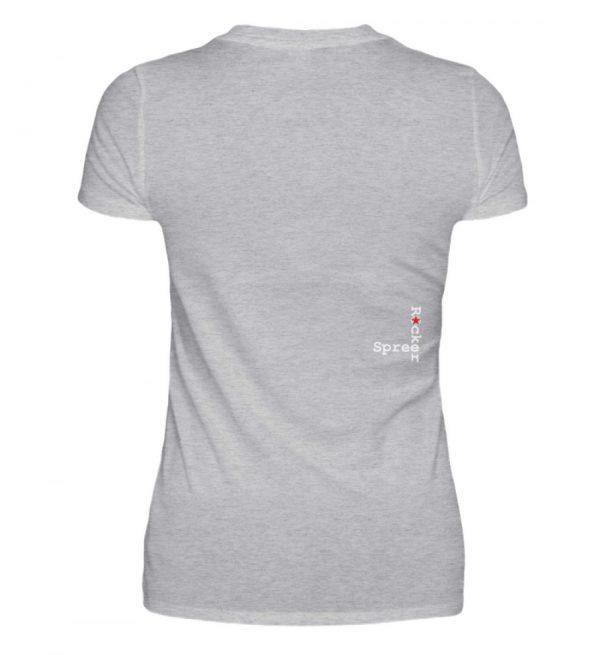 SpreeRocker Blond - V-Neck Damenshirt-17