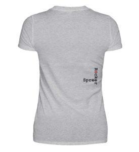 SpreeRocker - Black and Red - V-Neck Damenshirt-17