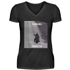 SpreeRocker - PROBLEMS...FORGOTTEN - V-Neck Damenshirt-16