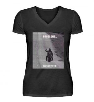 SpreeRocker - PROBLEMS...FORGOTTEN - V-Neck Damenshirt-16
