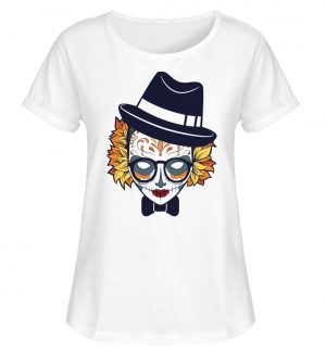 SpreeRocker Lady Skull - Damen RollUp Shirt-3
