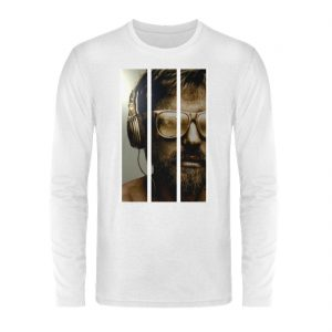 SpreeRocker - Gold Music Man - Unisex Long Sleeve T-Shirt-3
