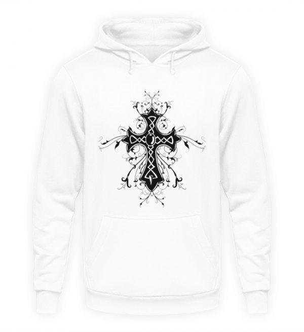SpreeRocker - Black Cross - Unisex Kapuzenpullover Hoodie-1478