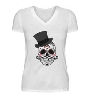 SpreeRocker - Skull of Dead - V-Neck Damenshirt-3