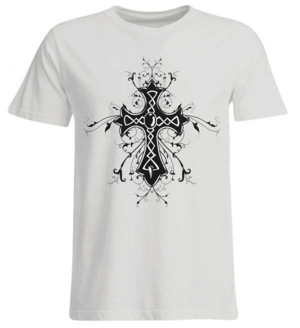 SpreeRocker - Black Cross - Übergrößenshirt-1053