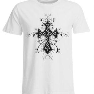 SpreeRocker - Black Cross - Übergrößenshirt-3