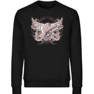 SpreeRocker Rose Skull - Unisex Organic Sweatshirt-16