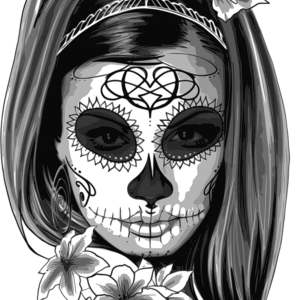 SpreeRocker® - Black White Skull