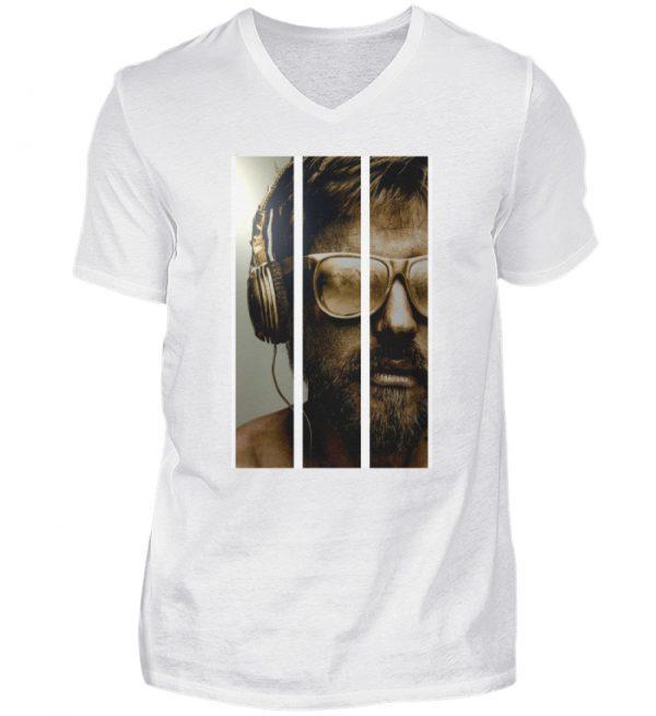 SpreeRocker - Gold Music Man - Herren V-Neck Shirt-3