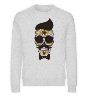 SpreeRocker Sunglasses Skull - Unisex Organic Sweatshirt-6892