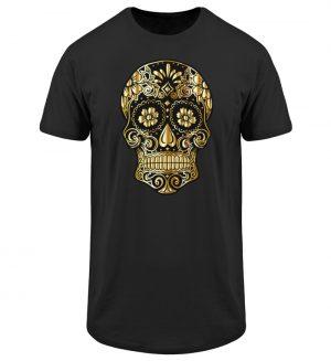 SpreeRocker® - Golden Skull - Herren Long Tee-16