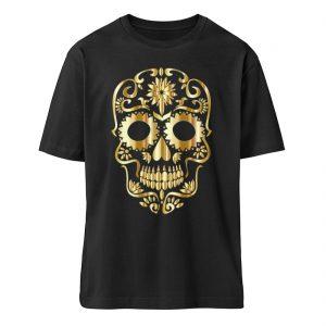 SpreeRocker® - Golden Skull 1 - Organic Oversized Shirt ST/ST-16