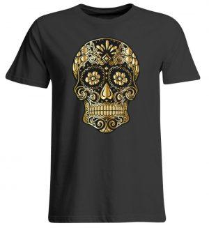 SpreeRocker® - Golden Skull - Übergrößenshirt-639
