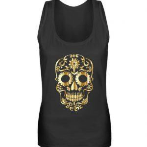 SpreeRocker® - Golden Skull 1 - Frauen Tanktop-16