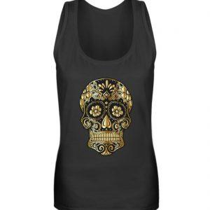 SpreeRocker® - Golden Skull - Frauen Tanktop-16