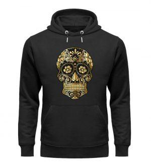 SpreeRocker® - Golden Skull - Unisex Organic Hoodie-16