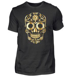SpreeRocker® - Golden Skull 1 - Herren Shirt-16
