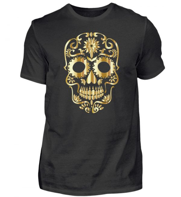 SpreeRocker® - Golden Skull 1 - Herren Shirt-16