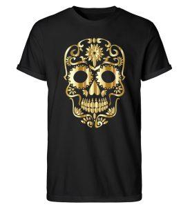 SpreeRocker® - Golden Skull 1 - Herren RollUp Shirt-16